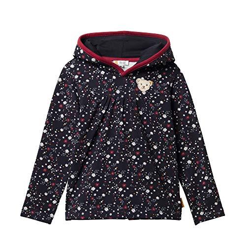 Steiff Baby-Mädchen Sweatshirt, Blau (BLACK IRIS 3032), 80 (Herstellergröße:80)
