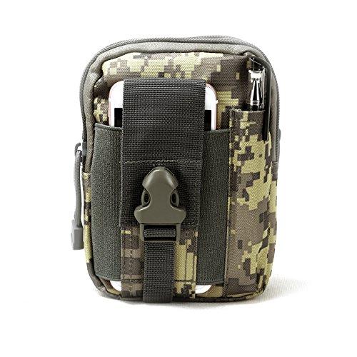 TOURBON Funda multiusos táctica de caza para Smartphone Funda EDC seguridad bolsa de transporte cinturón riñonera bolsa Gadge, camuflaje