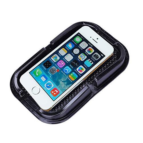 JATrade Auto Handyhalterung Premium Große Antirutschmatte mit Steg Starke Haftung KlebeHaftmatte Armaturenbrett Kompatibel mit iPhone, Galaxy usw. für Brille Kleingeld sehr geeignet - Schwarz