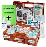 Erste-Hilfe-Koffer M1 INKL. Sprühpflaster & Hygiene-Ausstattung nach DIN/EN 13157 für Betriebe inkl. Verbandbuch & Wundreinigung