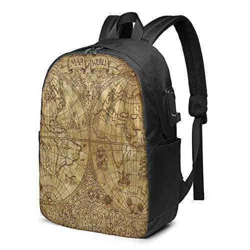 Laptop Rucksack Business Rucksack für 17 Zoll Laptop, Grafikkarte Schulrucksack Mit USB Port für Arbeit Wandern Reisen Camping, für Herren Damen
