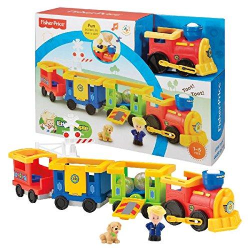 Fisher-Price Little People Load & Go Zug aus Kunststoff - Spielzeugfahrzeuge (Kunststoff, Mehrfarbig, Zug, 1, 4), Kinder/Mädchen