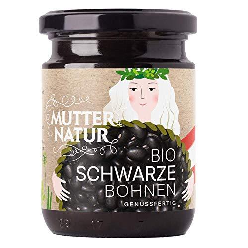 Mutter Natur - Bio Schwarze Bohnen im Glas - 235 g