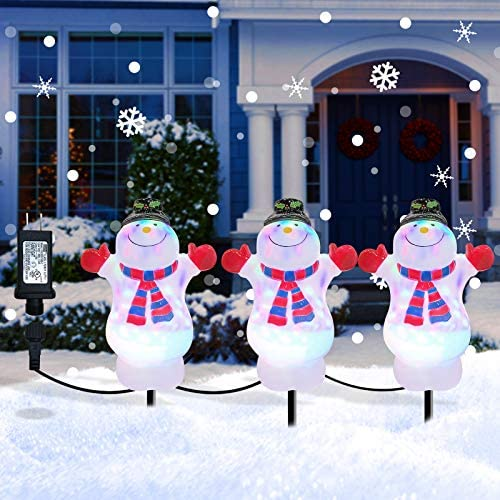 Christmas Decorations Snowman Pathway Light Outdoor Waterproof Landscape Path Lights Decor 3 product image
