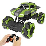 Remote Control Car,Hobby RC Car Monster Truck RC Cars for Kids 2.4Ghz High Speed 1/16 Scale RC Stunt Climbing Car 4x4 Off Road Car Rechargeable RC Stunt Car for Kids Adult Outdoor Toy RC Racing Car