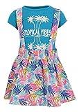 Unique Baby Girls Tropical Vibes Palm Leaf Print Dress Skirt Shirt Set (4t)