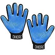 UNIQUE DESIGN À CINQ DOIGTS: 369 pointes de massage sont beaucoup plus denses et plus fines que les autres, offrant un massage plus confortable et plus complet à votre animal de compagnie GANT MULTI-FONCTIONNEL: La conception à cinq doigts permet d...