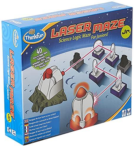 ThinkFun Laser Maze Junior (Class 1 Laser) Logic Game and STEM Toy - Award Winning Game for Kids
