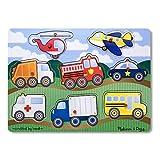 Melissa & Doug Vehicles Wooden Peg Puzzle (8 pieces)