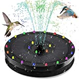 Solar Fountain Pump,9V/3.5W Garden Solar Powered Water Pump for Bird Bath,Solar Fountain with LED Colorful Lights,7 Different Fountain Effects,Floating Fountain Pump Kit for Pond,Gardens,Patio,Pool