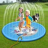 MANFO Splash Pad, 68 Zoll Outdoor Sommer Sprinkler und Splash Play Matte, Wasserspielzeug Splash Spielmatte für Baby Kinder Schwimmen Party Strand Wasser Sprinkler Pad.
