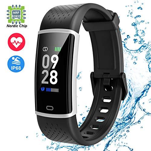 Jogfit Smartwatch Orologio Fitness Tracker Donna Uomo Cardiofrequenzimetro da Polso Impermeabile Activity Tracker Sport Contapassi Calorie Pedometro Fitness Braccialetto Smartband Bambini Android iOS