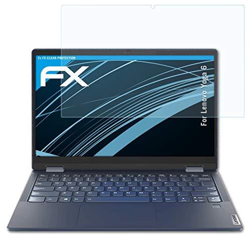atFoliX Lámina Protectora de Pantalla Compatible con Lenovo Yoga 6 Película Protectora, Ultra Transparente FX Lámina Protectora (2X)
