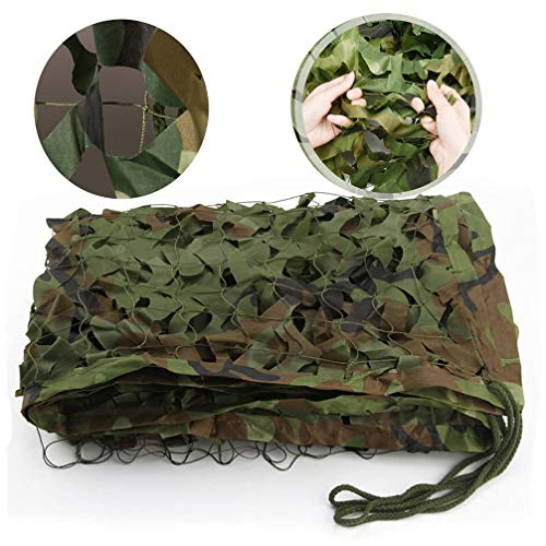 WWJQ Outdoor Shade net 210D Camouflage Hunting Shooting Net, Hide Military Army Camo Netting, for Concealed Hunting/Design/Decoration,2x3m 3x4m 3x5m