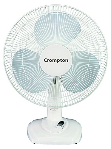 Crompton 1300 RPM Table Fan (White, 20x5x25 cm)