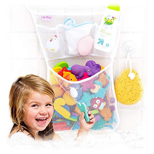 Tub Cubby Bath Toy Organizer + 36 ABC Foam Letters...
