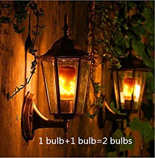 LED Flame Effect Fire E26 Light Bulbs,Creative with Flickering Emulation Lamps,Simulated Nature Fire in Antique Lantern Atmosphere for Holiday Hotel/Bars/Home Decoration Restaurants(2 Pack)