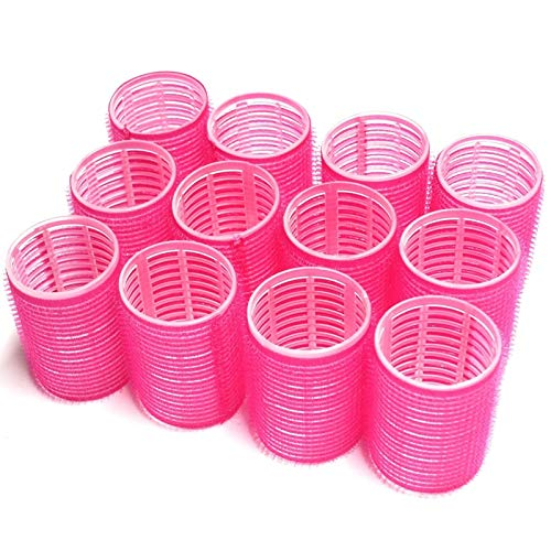 UrbHome Large Hair Rollers, Self Grip, Salon Hairdressing Curlers,Large,(Colors May Vary) ,12 Pack New York
