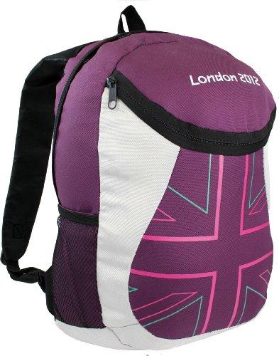 London 2012 Challenger - Mochila (16 L), diseño de olimpiadas de Londres Granate Talla:16 litros