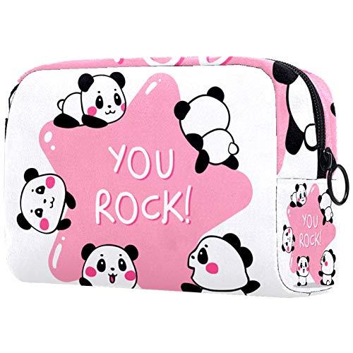 Neceser de Viaje Panda de Roca Neceser Maquillaje Nolsas de Aseo Cosméticos...