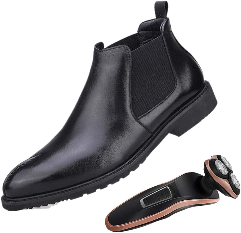 LZMEG Pointed Man Chelsea Chelsea Chelsea Martin stövlar svart Elastisk Mjuk Läder Andningsbar Vuxen  försäljningsstället