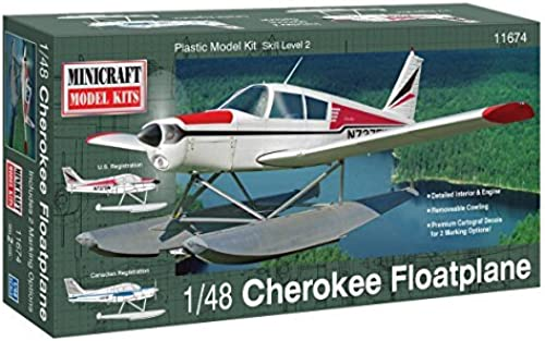 Minicraft Piper Cherokee Float Plane Airplane Model Kit (1 48 Scale) by Minicraft