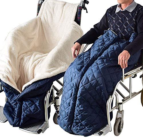 QMJYP Rollstuhldecke Winter,Rollstuhl Beinbezug, Rollstuhlsack Fußsack Schlupfsack Rollstuhl Sack, Universal Wickeldecke für Rollstuhl und Elektromobil, Schützt vor Kälte, Wind