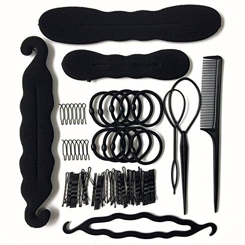 Soleebee Haare Frisuren Set Frisurenhilfe, Schönheit Magic Haar Design Styling Zubehör Set Haar Modellierung Accessories Kit DIY Schnelle Spirale Haar Flechten Haar Werkzeug, 8 Arten (Set 2)