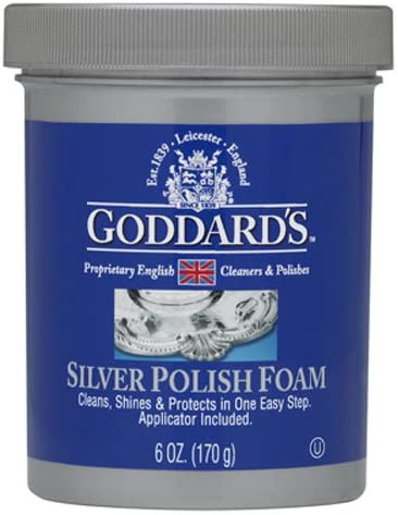 Goddards Silver Polisher - 170g/6 oz. Cleansing Foam with Sponge Applicator - Tarnish Remover, 707085