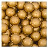 LittleTom 50 Bälle für Bällebad 5,5cm Babybälle Plastikbälle Baby Spielbälle Gold