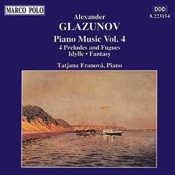 GLAZUNOV: Piano Music, Vol.  4
