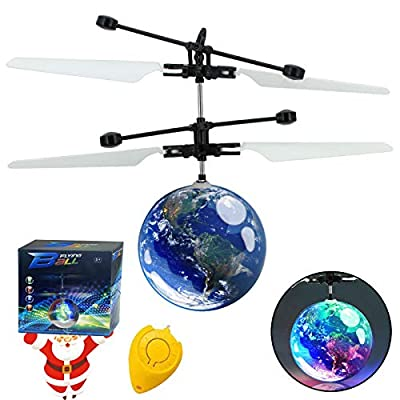 AMENON Flying Ball RC Toys for Kids, Hand Controlled Mini Drones Light-Up Flying Toy Helicopter with Rechargeable Remote Controller Quadcopter Novelty Toys Holiday for Kids Boys from