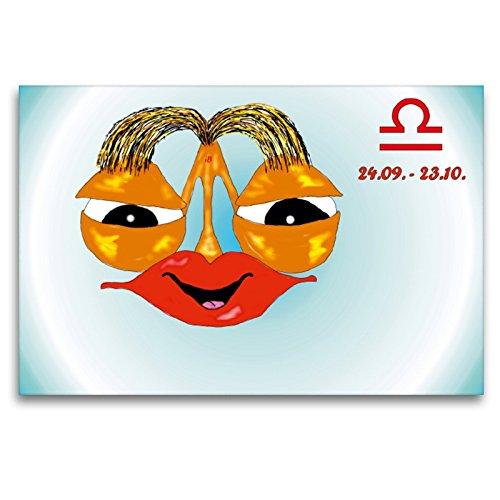 Premium Textil-Leinwand 120 x 80 cm Quer-Format Waage | Wandbild, HD-Bild auf Keilrahmen, Fertigbild auf hochwertigem Vlies, Leinwanddruck von Ingrid Besenböck