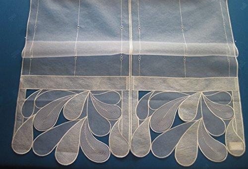Viora Raffrollo Sylt Creme Höhe 1,85 m Breite nach Rapp. (Teilen) a 32 cm