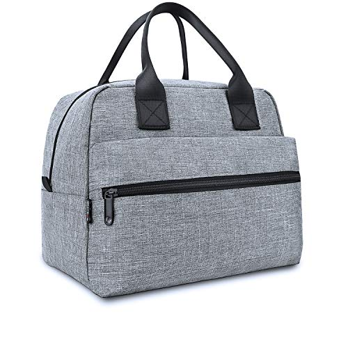 Insulated lunch bags for Men Women,Leakproof Cooler Tote Bag Lunch Box for Work Picnic or Travel(Grey)