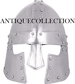 ANTIQUECOLLECTION Steel Halanor Barbuta Helmet Medieval Helm Cosplay LARP Steel Helmet