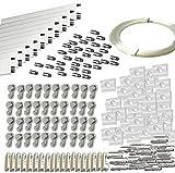 MARCS ARIAS SL Pack Basic RM de 30 Metros Guías de Aluminio (Blanco Mate) con 40 colgadores Nylon...