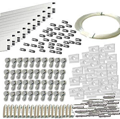 MARCS ARIAS SL Pack Basic RM de 30 Metros Guías de Aluminio (Blanco Mate) con 40 colgadores Nylon para Colgar Cuadros