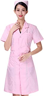 PRETYZOOM Hospital Medical Scrubs Set Doctor Nurse Uniform Lab Coat Isolation Gowns Nursing Safety Coverall Protective Clo...