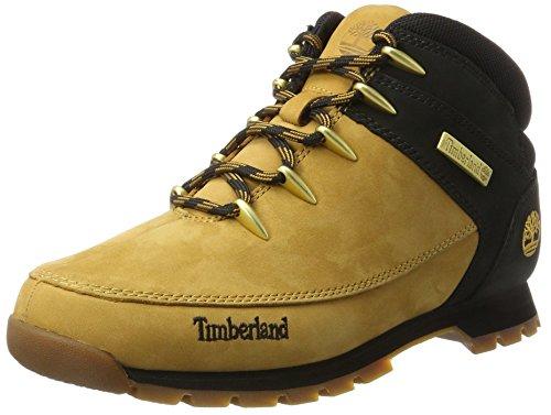 Timberland Euro Sprint Hiker, Botas Hombre, Amarillo Wheat Nubuck w/Black, 40 EU