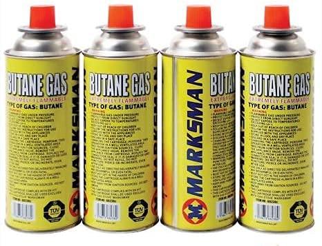 HiCollections 4 botellas de cartuchos de gas butano para camping al aire libre calentador cocina barbacoa