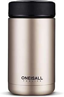ONEISALL GYBL114 Men Gift Thermos Cup Insulated Stainless Steel Thermo Mug with Tea Infuser, Vacuum Flask Coffee Wine Tumb...