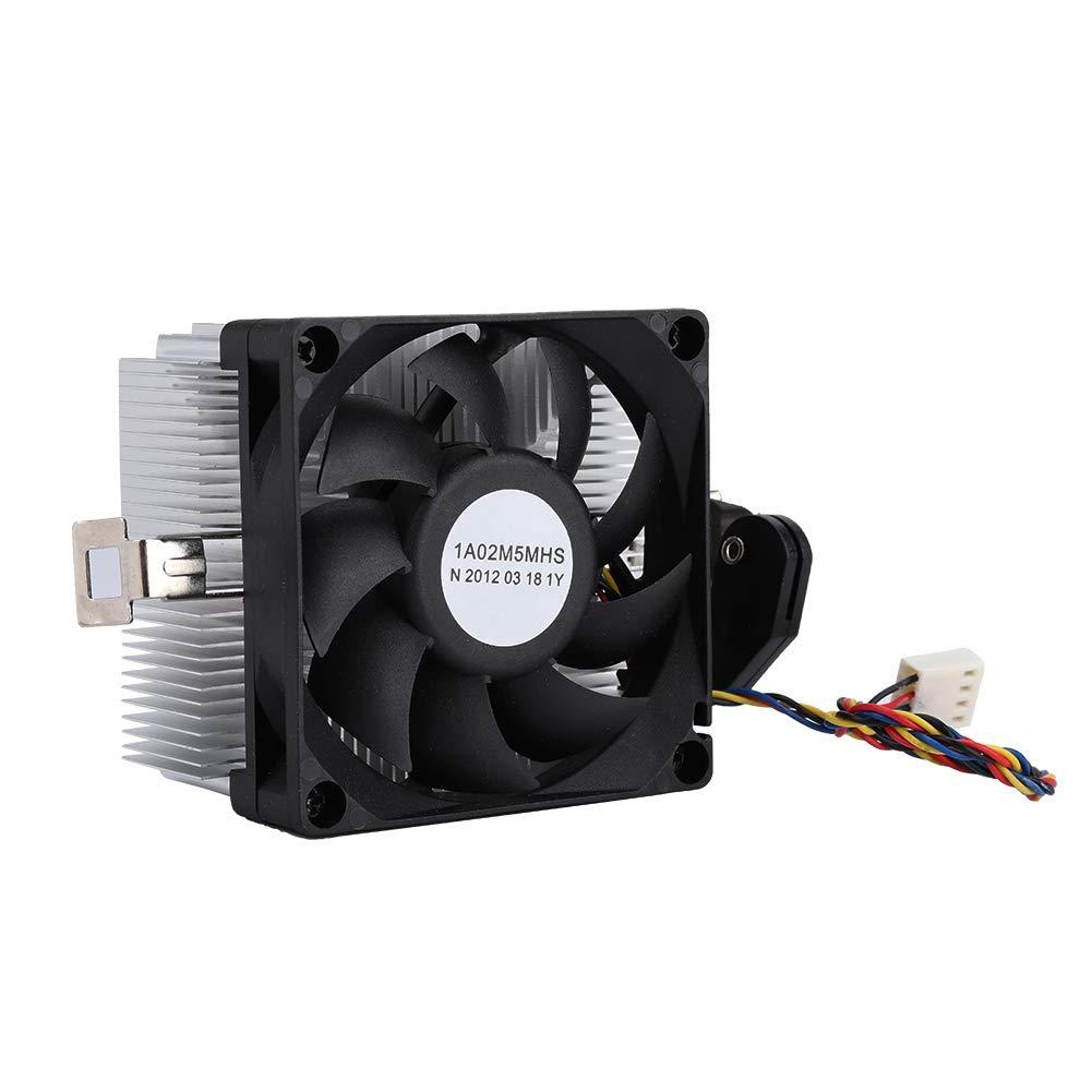 Ventilador CPU 12 V volumen de aire negro de grandes dimensiones, almohadilla hidráulica sin ruido 2200 RPM Dispositivo de refrigeración CPU, ventilador de refrigeración CPU, para AM2 AM3 AM3