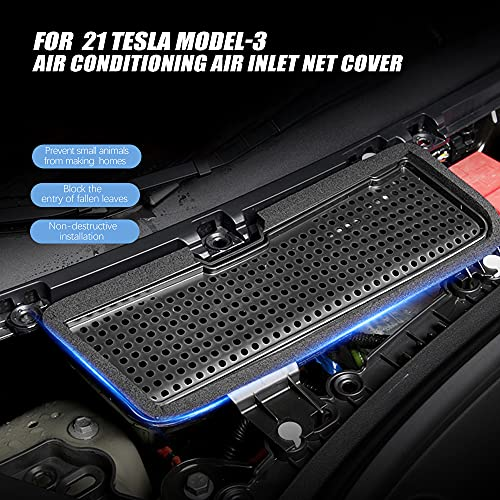 SPEEDPARK for Tesla Model 3 Accessories Air Intake Grille, ABS Plastic Air Vent Intake Air Flow Vent Protection Inlet Cover