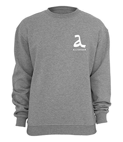 Alligatoah Sweater Logo Brust, Farbe:grau, Größe:XL
