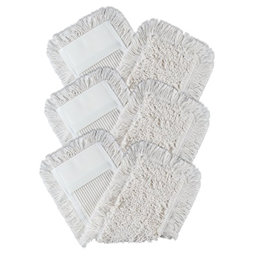 BELLANET 3er Set Wischbezüge weiß 40cm aus Baumwolle für empfindliche Böden