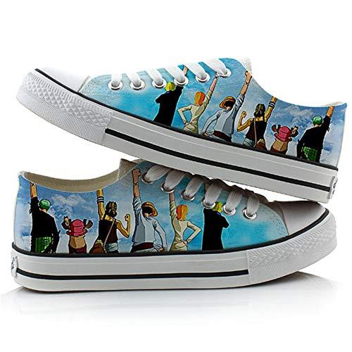 JPTYJ One Piece Monkey·D·Luffy/Roronoa Zoro Zapatos de Lona de Anime para Pareja Unisex, Mujeres, Hombres, Anime, Cosplay, Zapatillas clásicas A-37