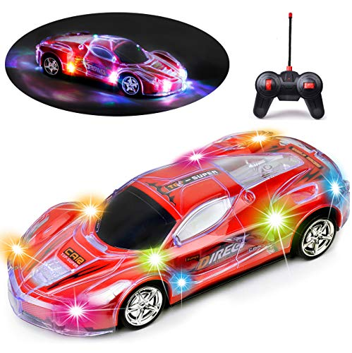 Haktoys Light Up Racing Red 1:24 Scale...