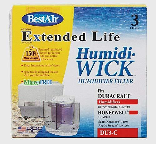 3pk New BEST AIR DU3-C Humidifier Humidi Wick Filter Duracraft Honeywell Sears