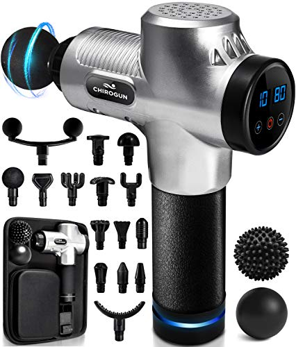 Massage Gun Deep Tissue Massager - Percussion Massage Gun Massager Gun Muscle Massage Gun Deep Tissue Massage Gun Deep Tissue Percussion Muscle Massager Percussion Massager Muscle Gun Massager Chrome